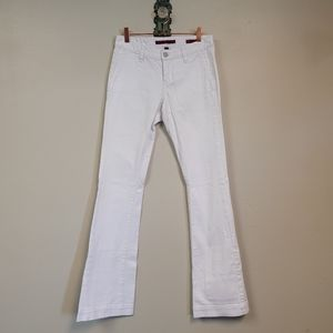 Banana Republic Flare Wide Leg White Jeans